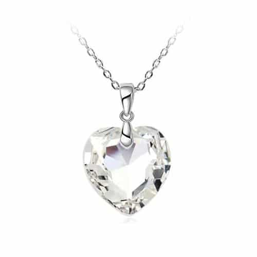 925 Srebrna Ogrlica Kristalno Srce srebrni nakit prodaja 1