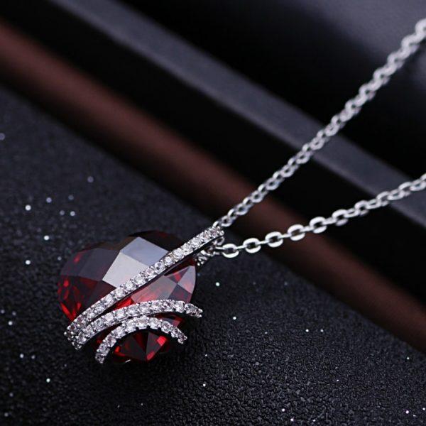 925 Srebrna Ogrlica sa Kristalom Srce srebrni akit prodaja