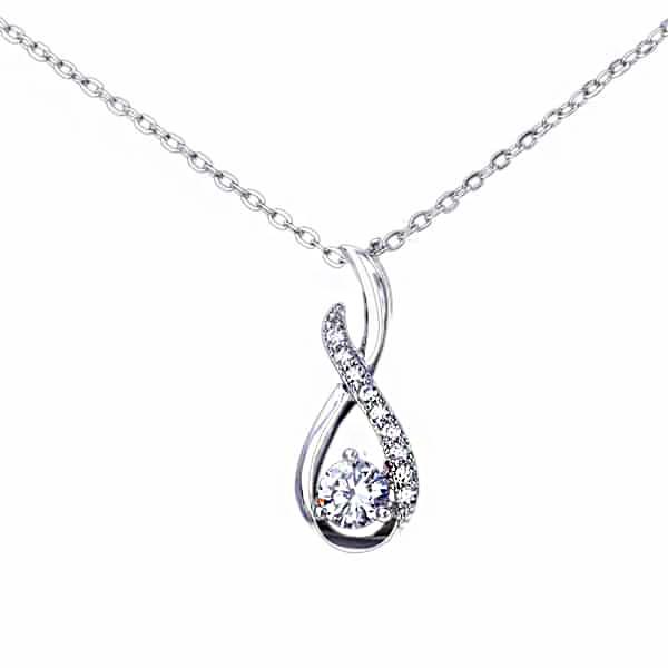 Elegantna 925 srebrna ogrlica aurora srebrni nakit prodaja