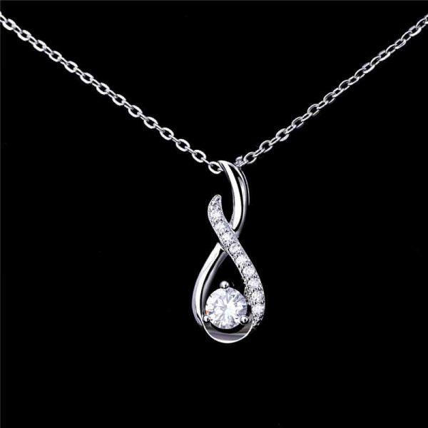 Elegantna srebrna ogrlica aurora srebrni nakit prodaja