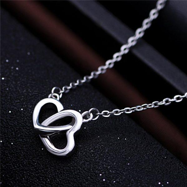 Ogrlica Double Love srebrni nakit prodaja