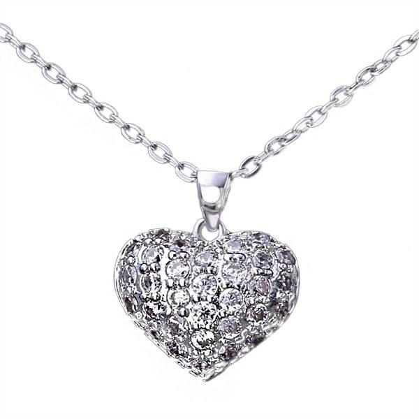Srebrna Ogrlica sa Kristalom Srce srebrni nakit prodaja