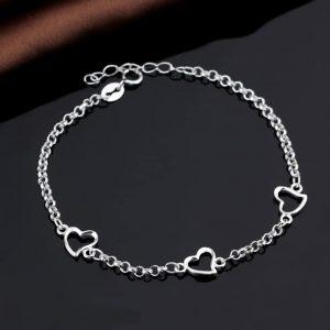 Srebrna narukvica Srca srebrni nakit prodaja