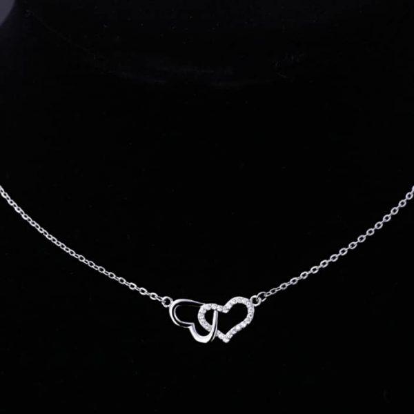 Srebrna ogrlica Infinity Hearts srebrni nakit prodaja