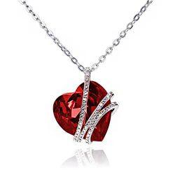 Srebrna ogrlica ruby magnificent srebrni nakit prodaja