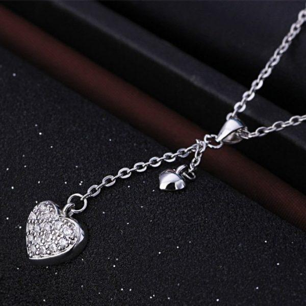 Trendi 925 Srebrna Ogrlica – Srce cirkoni srebrni nakit prodaja