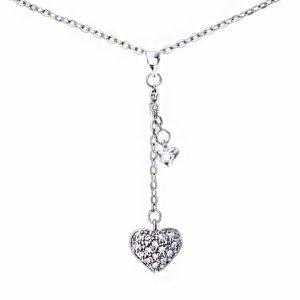 Trendi 925 Srebrna Ogrlica – Srce srebrni nakit prodaja