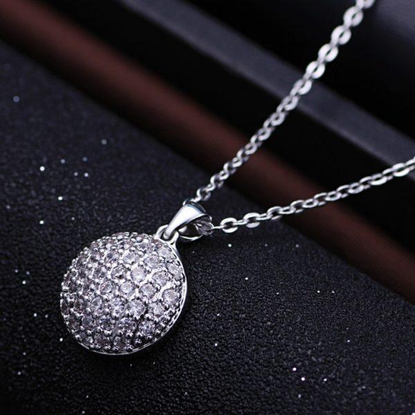 Trendi 925 Srebrna Ogrlica Grace bela srebrni nakit prodaja