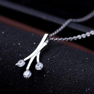 Trendi 925 Srebrna Ogrlica Tiara srebrni nakit prodaja