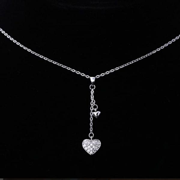 Trendi Srebrna Ogrlica – Srce srebrni nakit prodaja