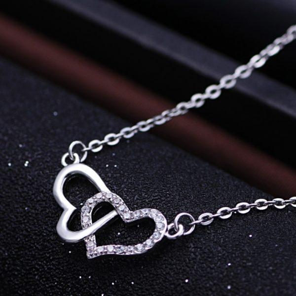 srebrna hearts ogrlica srebrni nakit prodaja