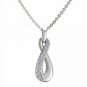 srebrna infiniti ogrlica missty srebrni nakit prodaja