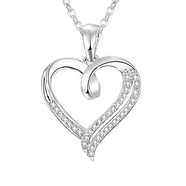 srebrna oglica srce srebrni nakit prodaja